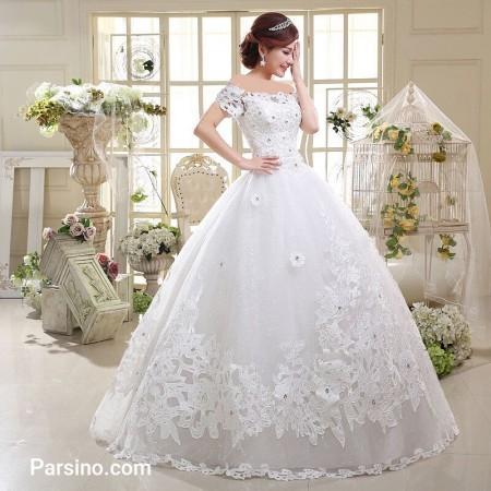 لباس عروس پرنسسی بدون آستین