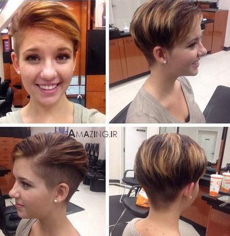 مدل موی کوتاه , مدل مو کوتاه دخترانه , مدل مو کوتاه مجلسی زنانه