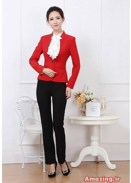 کت و دامن شیک قرمز, کت مجلسی با بلوز