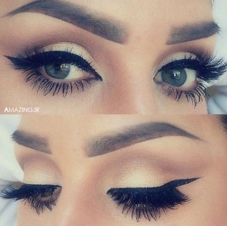 آرایش چشم مجلسی,مدل آرایش چشم ,مدل سایه چشم ,خط چشم