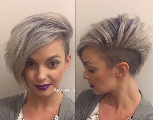 مدل آرایش مو 94, مدل مو بسته , مدل مو جذاب دخترانه , مدل مو کوتاه زنانه