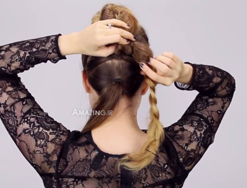 آموزش بافتن مو , کلیپ بافت مو زیبا , فیلم آموزشی بافت مو , آموزش مدل بافت مو دخترانه