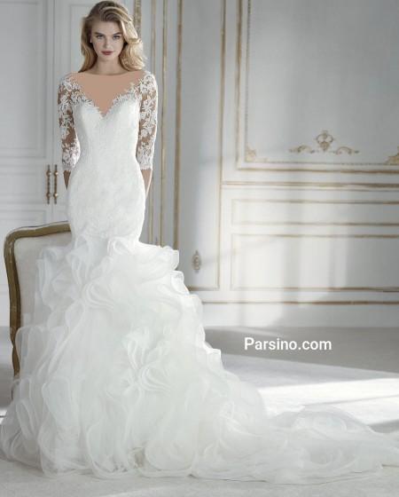 شیک ترین مدل لباس عروس دامن پفی خارجی