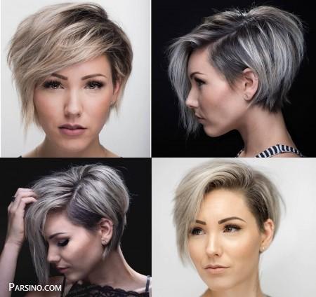 مدل مو کوتاه ,مدل مو کوتاه 2018 , مو کوتاه