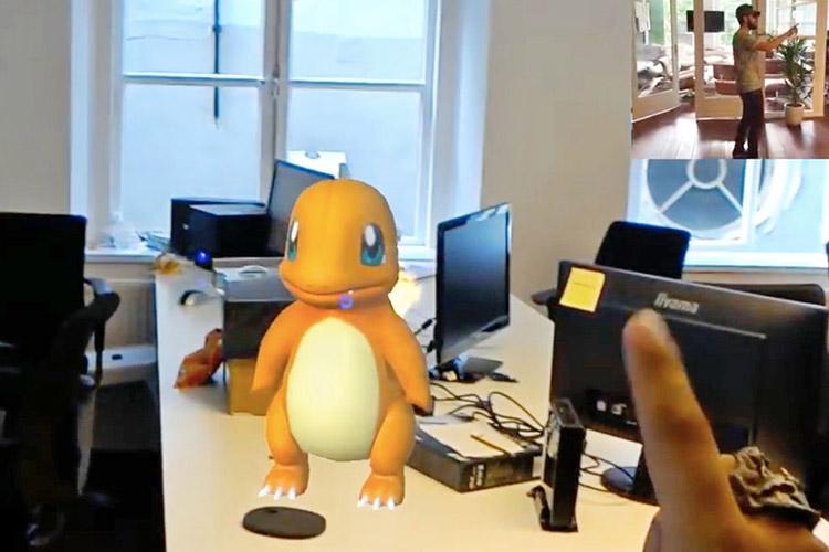 تماشا کنید: تجربه جالب بازی پوکمون گو با استفاده از هولولنز مایکروسافت