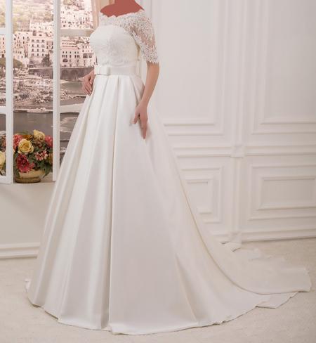 لباس عروس آستین دار, مدل لباس عروس آستین کوتاه