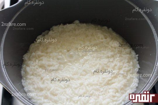 برنج پخته شده و شفته