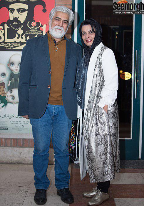 مدل مانتو عاطفه رضوی در پشت صحنه تئاتر حضرت اشرف