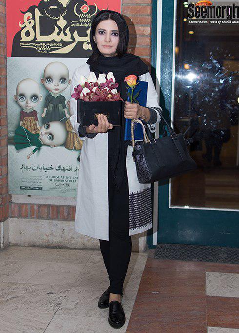مدل مانتو لیندا کیانی در پشت صحنه تئاتر حضرت اشرف